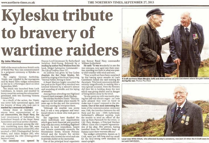 Kylesku tribute to bravery of wartime raiders