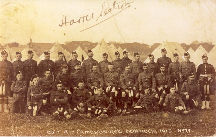 Photograph of Company of 4th Bn Cameron Highlanders 1913