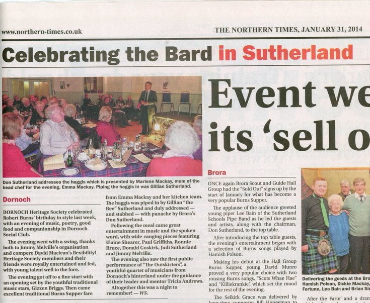 Celebrating the Bard in Sutherland