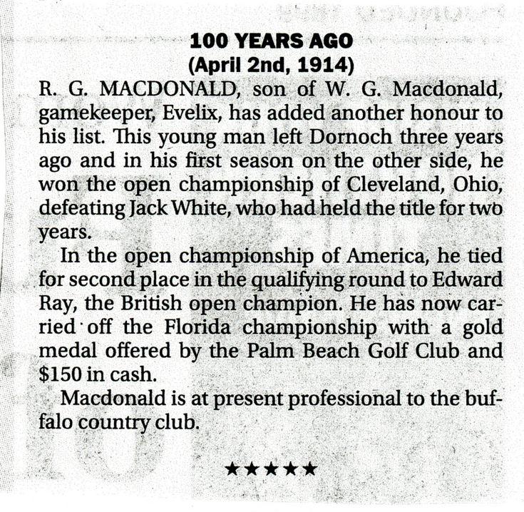 R G Macdonald winner of Cleveland Ohio Open