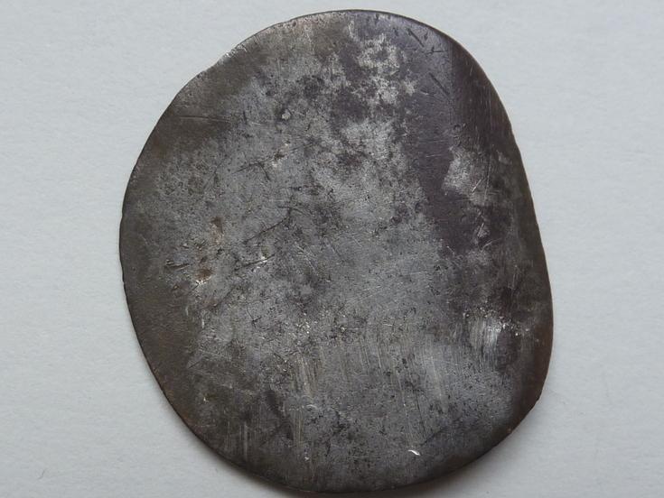 Badly worn coin, silver