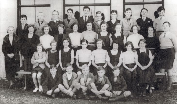Pupils & teacher, Dornoch Academy,1936 or 1937