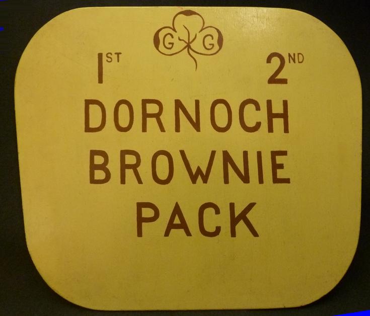 Dornoch Brownies Sign