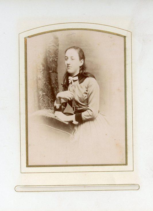 Teenage girl photograph from Sutherland album