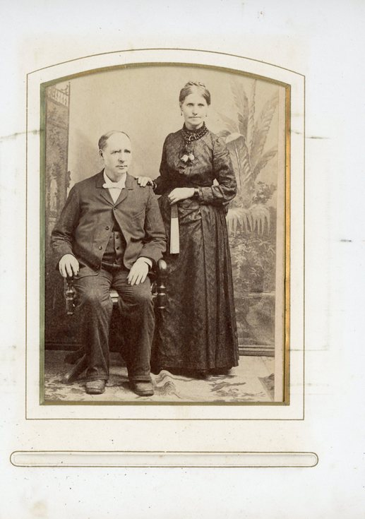 Studio portrait of lady and gentleman