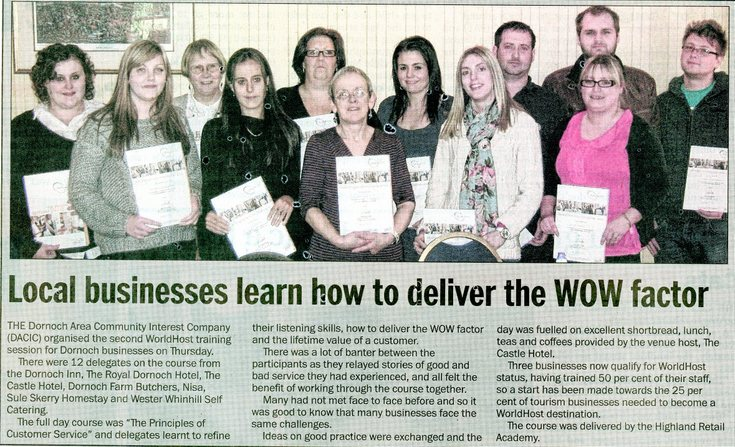 Local businesses learn how to deliver the WOW