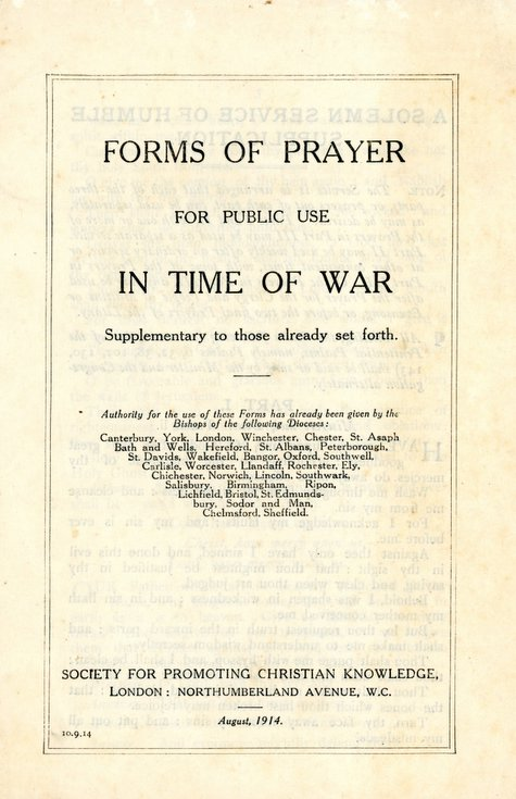 Forms of Prayer for Public Use in Time of War