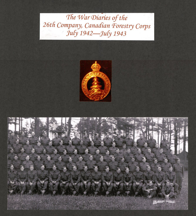 War Diaries 26 Company Canadian Forestry Corps