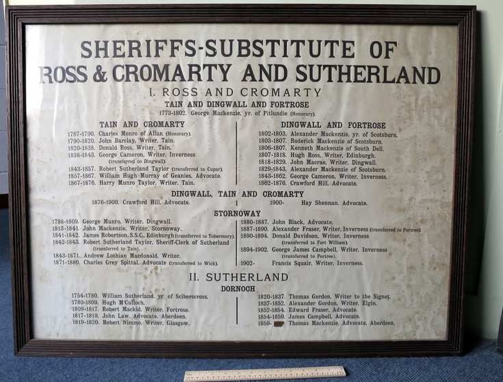 Sheriffs Substitute of Ross, Cromarty and Sutherla
