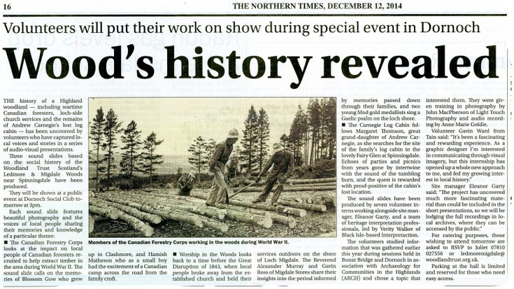 Wood's history revealed