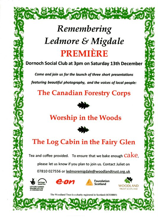 'Remembering Ledmore & Migdale
