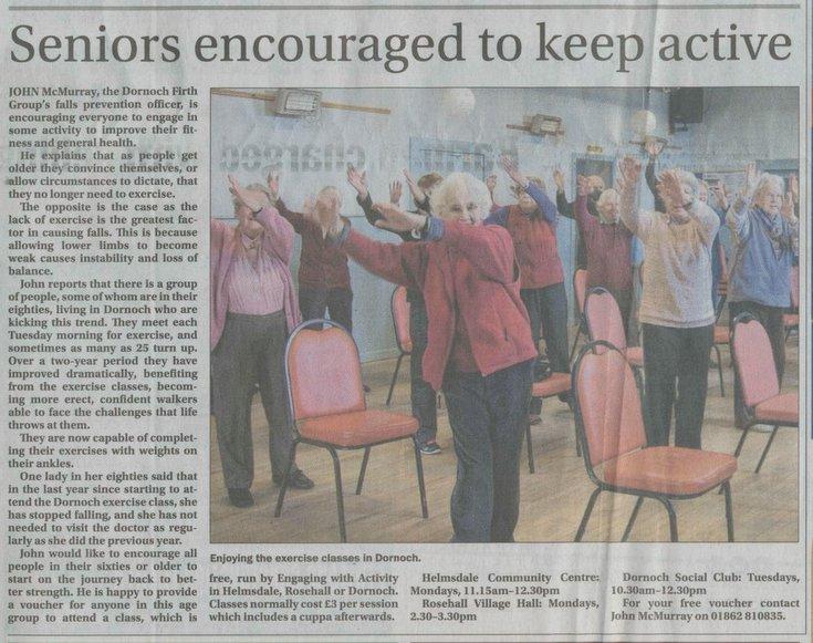 Seniors encouraged to keep active