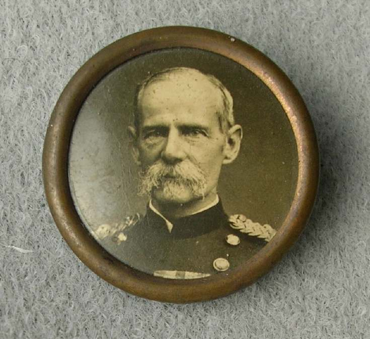 Badge with military photo