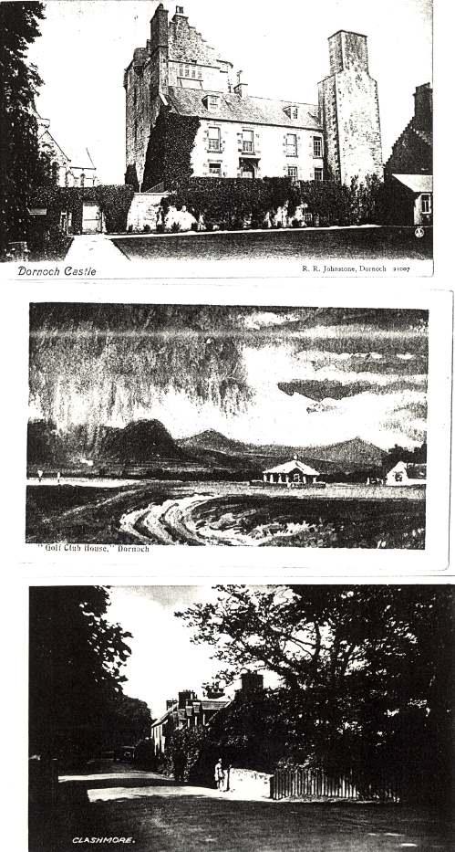 set of postcards of Dornoch