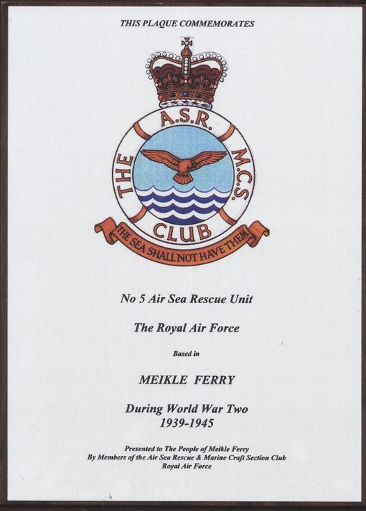 Commemorative plaque 5 Air Sea Rescue Unit