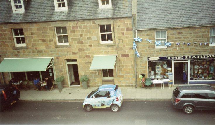 A wee 'Smart car'  in Dornoch