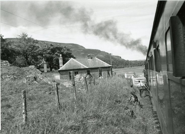 Skelbo gatehouse and rail crossing late 1950's
