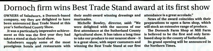 Dornoch firm wins Best Trade Stand award