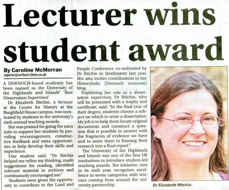 Lecturer wins student award