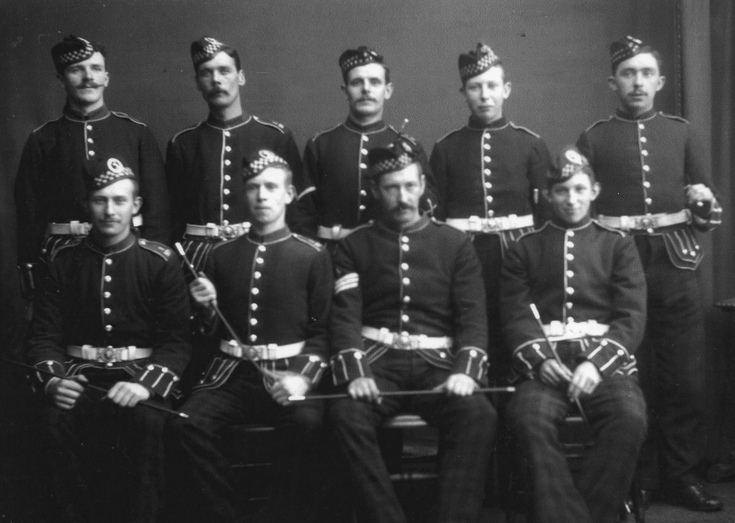 Group photograph - 'War in South Africa - 1900'