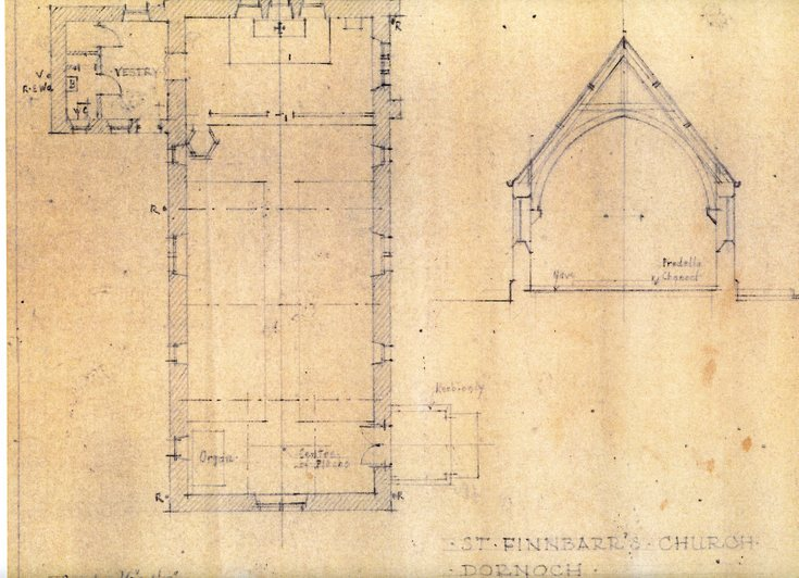 St. Finnbarr's Episcopal Church plan and section