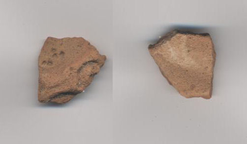 A decorated pottery fragment