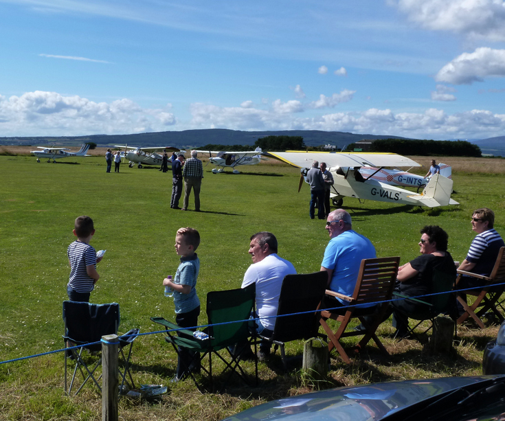 Spectators at the 'Fly In' to Dornoch Airfield 201