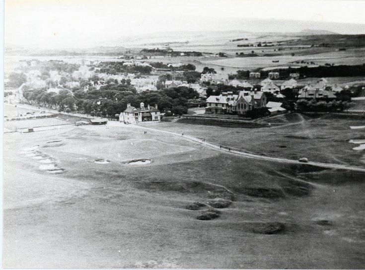Aerial view  Royal Dornoch Golf course c 1930