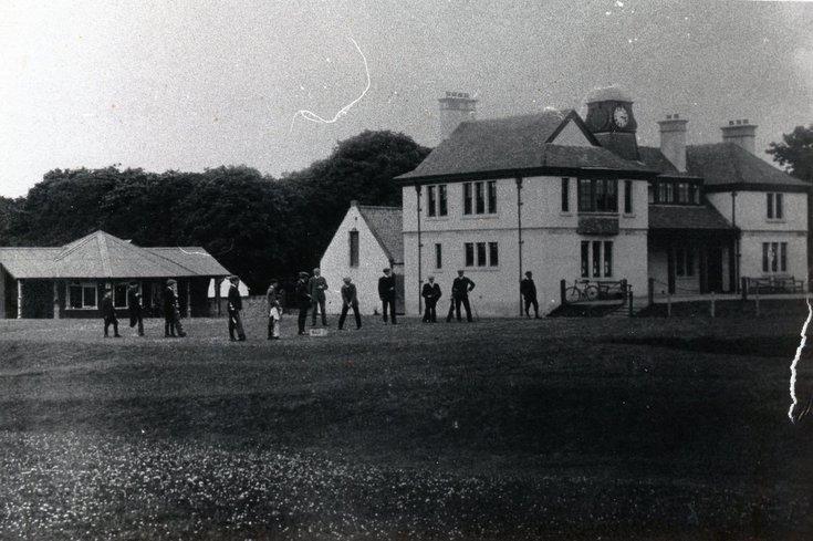 Golfers at the 1st tee Royal Dornoch c 1930