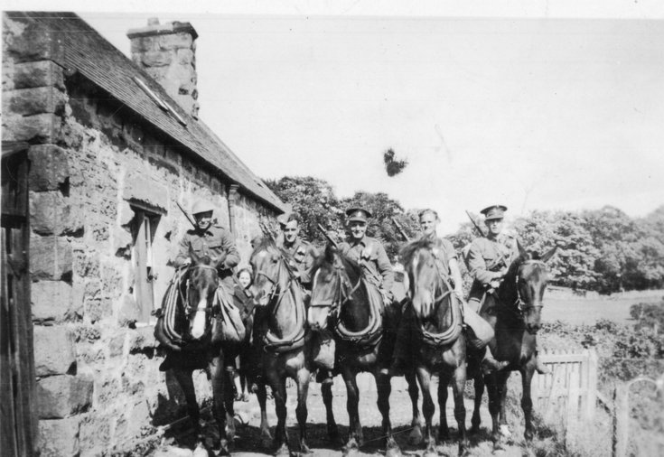 Mounted soldiers at Davochfin, Dornoch