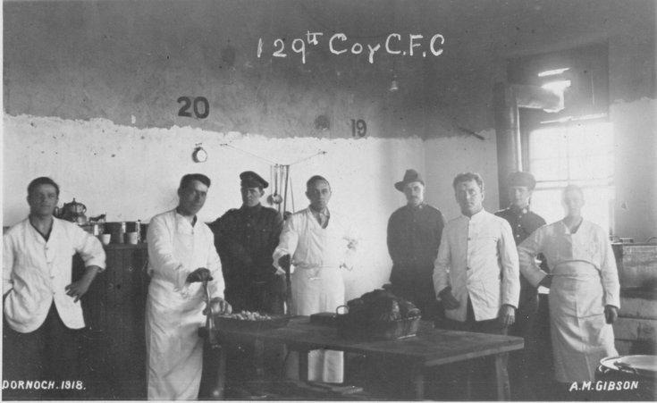 CFC troops preparing a meal