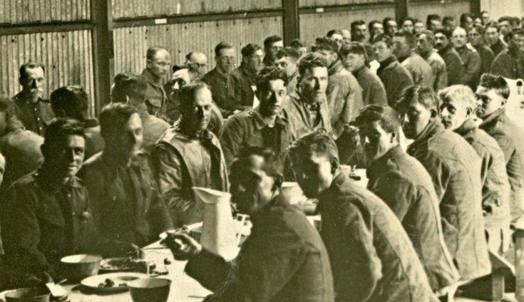 CFC troops enjoying a meal