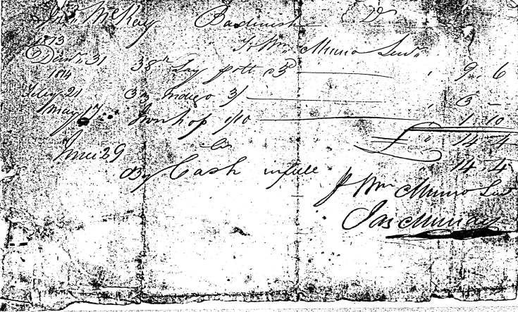 Rent receipt Badninish 1813
