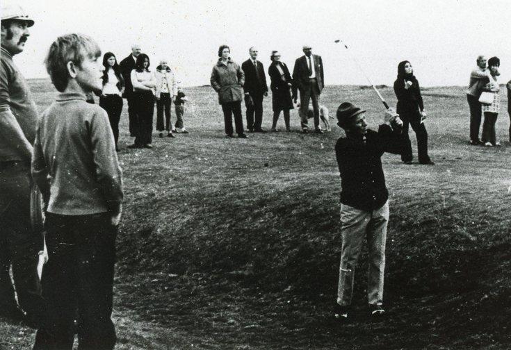 Bing Crosby playing at the Royal Dornoch Golf Club