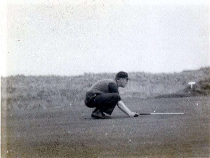 Lining up a putt