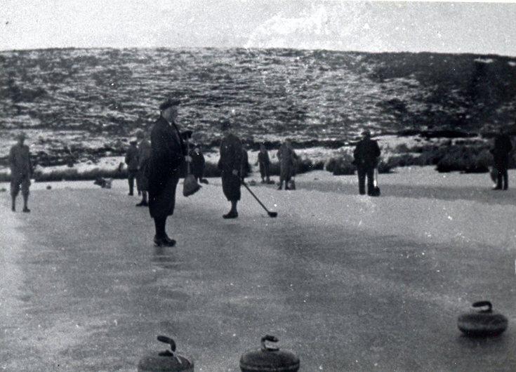 Curling on Loch-an-Treel c 1927