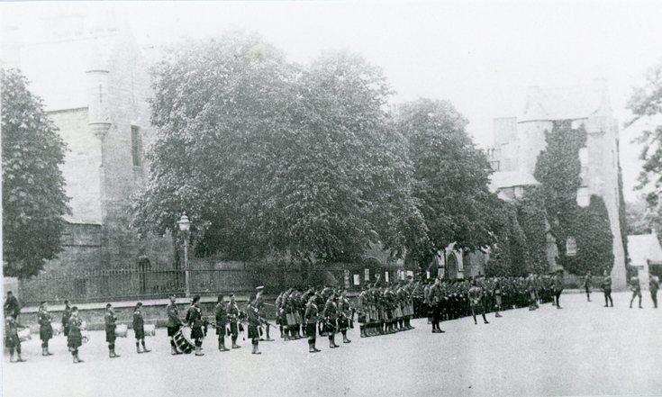 Military parade Dornoch Square