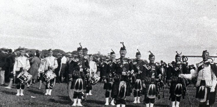 On parade at the Dornoch Games 1937