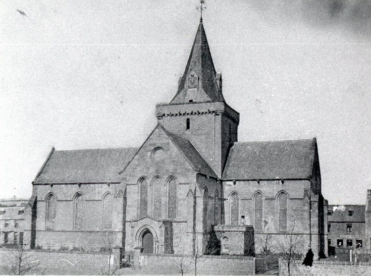 Early photo of Dornoch Cathedral from South