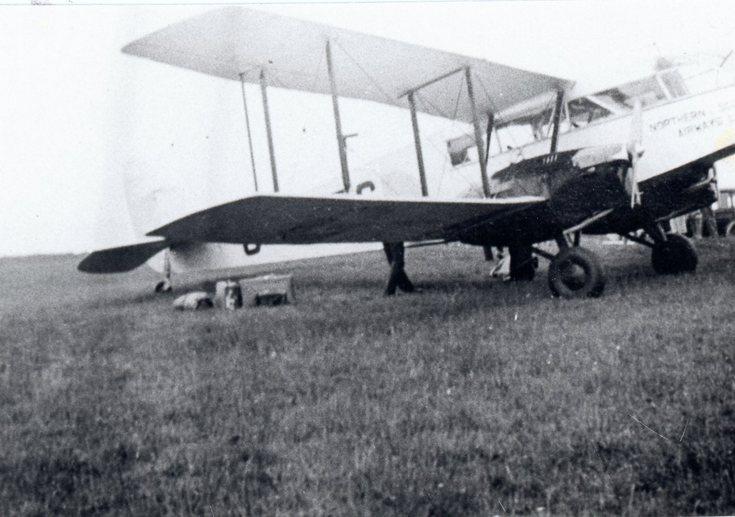 Northern Scottish Airways biplane at Dornoch