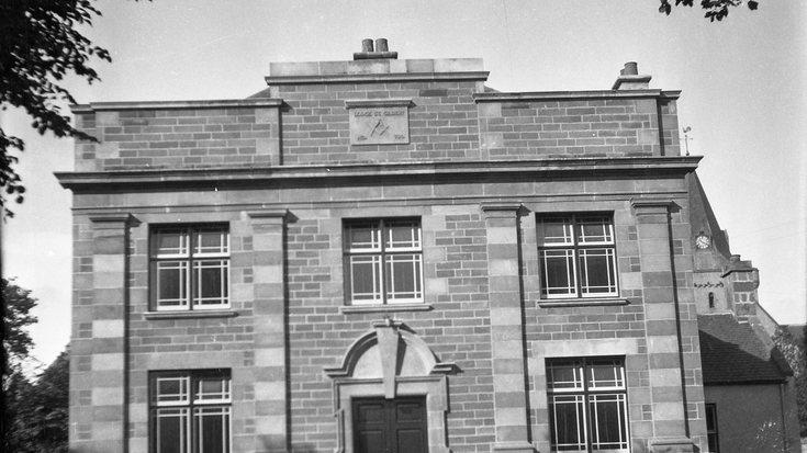 Close up view Masonic Building