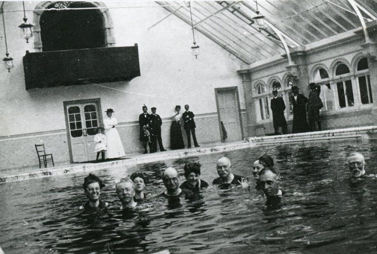 The Skibo Castle swimming pool c 1902