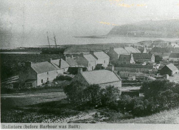 Balintore before the harbour was built