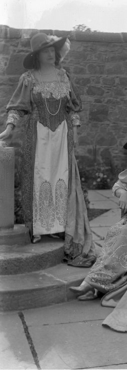 1928 Pageant Costume lady in Castle garden