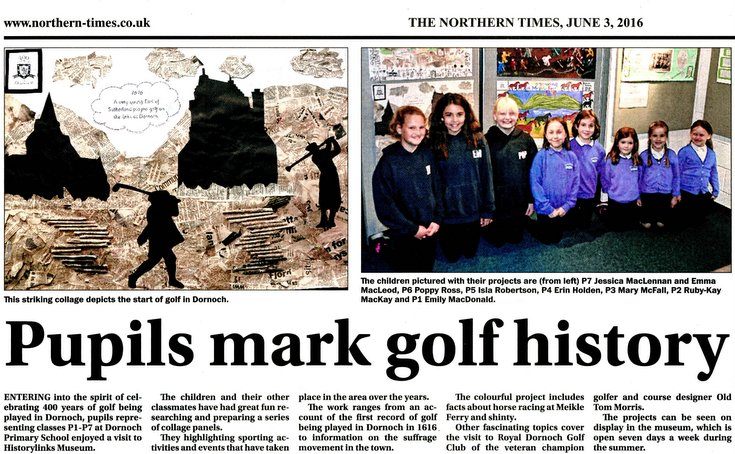 Pupils mark golf history