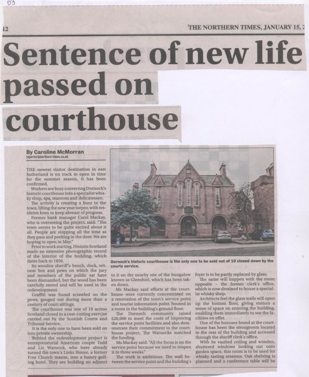 Sentence of New Life Passed on Court House