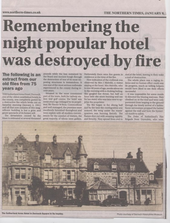 Night when Popular Hotel was Destroyed by Fire