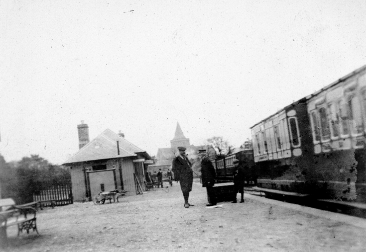 Early photograph of Dornoch Station