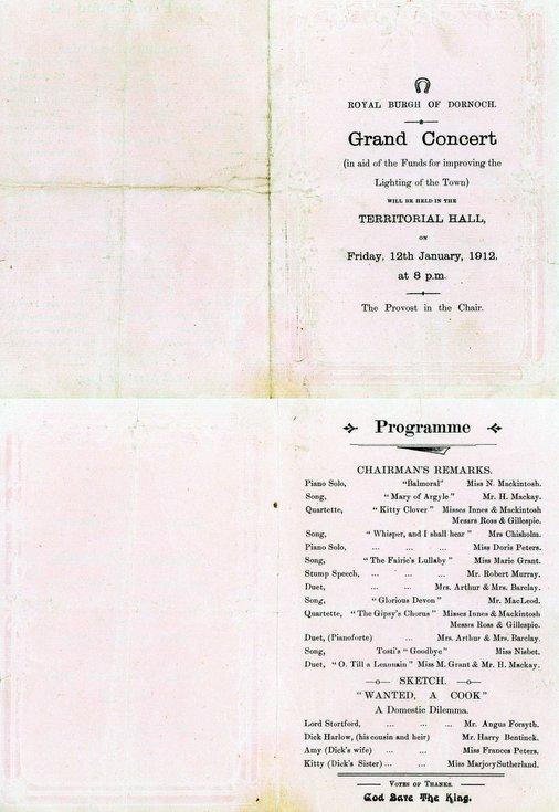 Grand Concert Programme