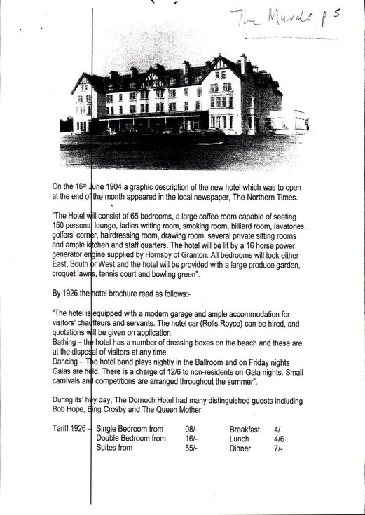 The Dornoch Hotel